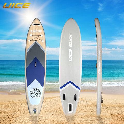 Wood Grain Inflatable Stand Up Paddle Board With Accessories