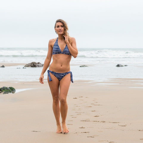 Urban Beach Pakala Bikini Navy & White Stripes-Bob Gnarly Surf