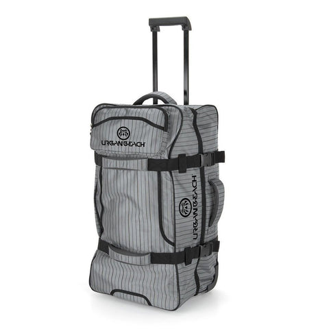 Urban Beach Block Wheeled Travel Bag Case Extended Handle Grey Luggage Ski