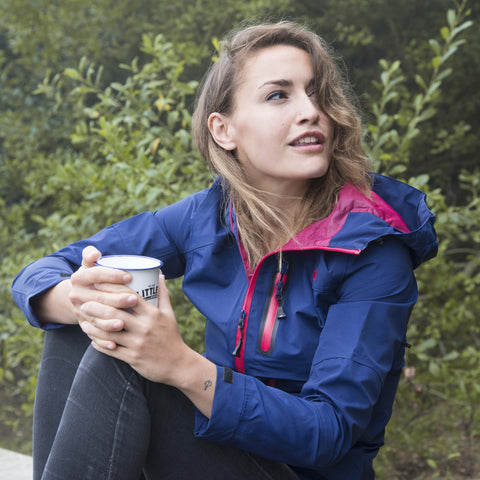 Womens Navy Waterproof Breathable Jacket Walking Hiking
