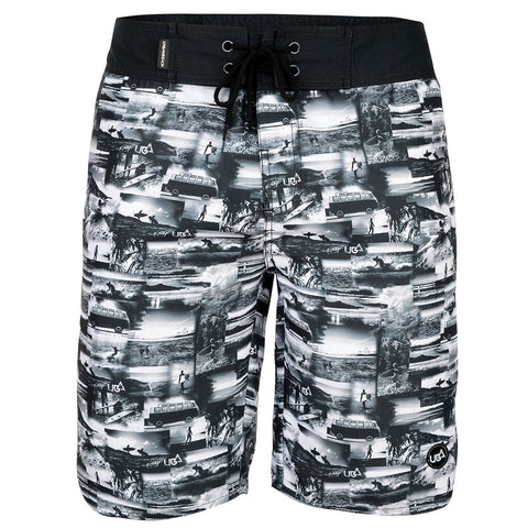 Men's Jaws AOP Board Shorts Black-Bob Gnarly Surf