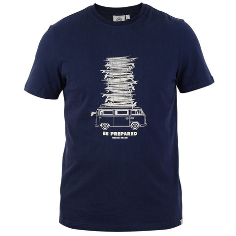 VW Mens Quill T-Shirt Navy-Bob Gnarly Surf
