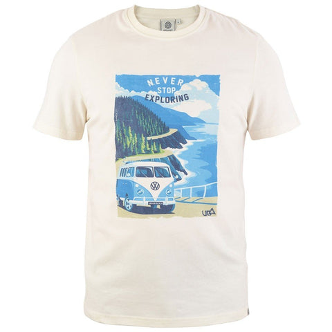 VW Mens Sorrel T-Shirt Cream-Bob Gnarly Surf