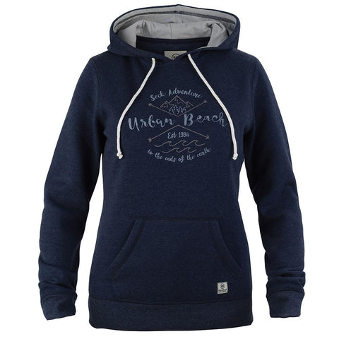 Womens Sunny Hoodie Navy-Bob Gnarly Surf