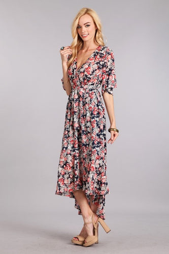 High-Low Wrap Dress