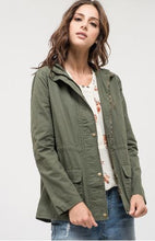 Olive + Plaid Patch Elbow Jacket