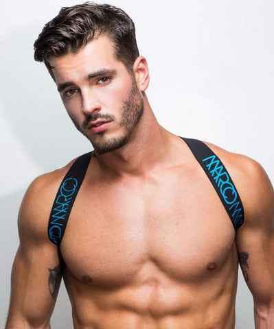 MARCO MARCO ELASTIC CHEST HARNESS (BLUE) - The Jock Shop