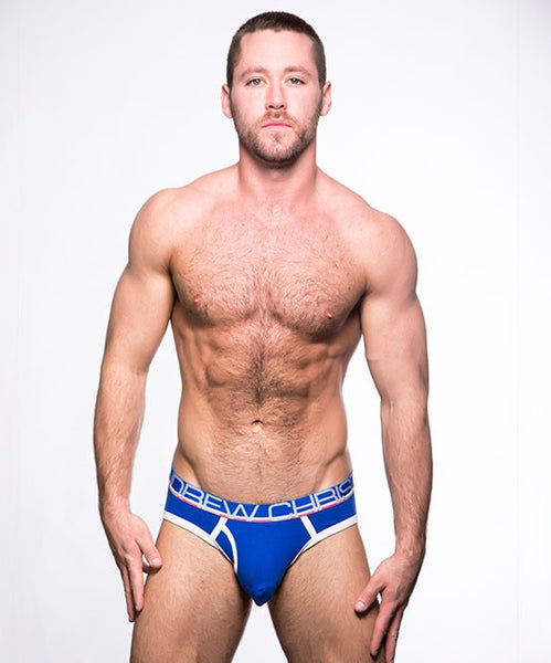 ANDREW CHRISTIAN FLY TAGLESS BRIEF (ROYAL BLUE) - The Jock Shop