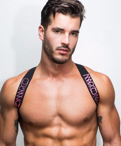 MARCO MARCO ELASTIC CHEST HARNESS (PINK)