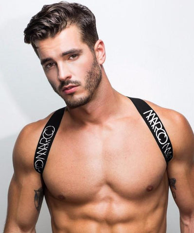 MARCO MARCO ELASTIC CHEST HARNESS (WHITE) - The Jock Shop