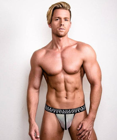 MARCO MARCO SPARKLE THONG (SILVER) - The Jock Shop
