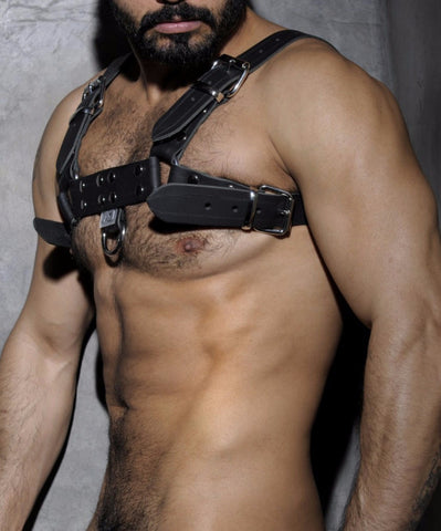 [PRE ORDER ONLY] ADDICTED FETISH LEATHER HARNESS (BLACK) - The Jock Shop