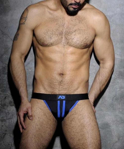 ADDICTED STRIPE FETISH JOCKSTRAP (ROYAL BLUE) - The Jock Shop