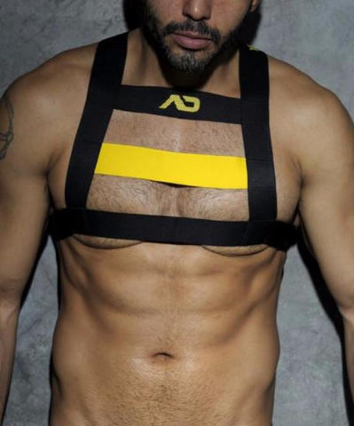 ADDICTED FETISH CODE HARNESS (YELLOW) - The Jock Shop