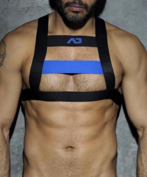 ADDICTED FETISH CODE HARNESS (BLUE) - The Jock Shop