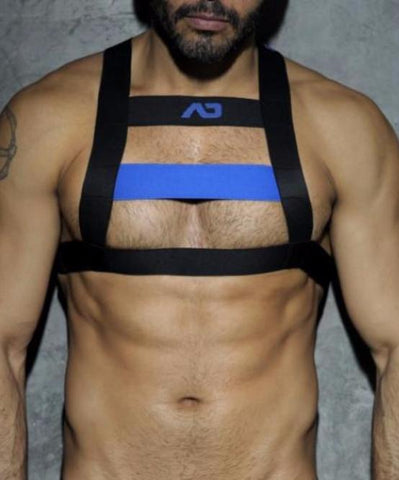 ADDICTED FETISH CODE HARNESS (BLUE)