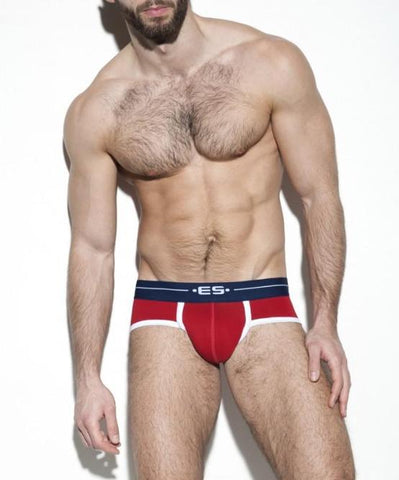 ES COLLECTION 7 DAY BRIEF (RED) - The Jock Shop