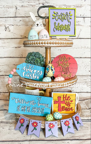 Easter Tiered Tray Set, Easter SIgns, Silly Rabbit Easter Signs