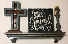 Grateful heart, collage wall sign, 3D wood signs, wood signs, 3D