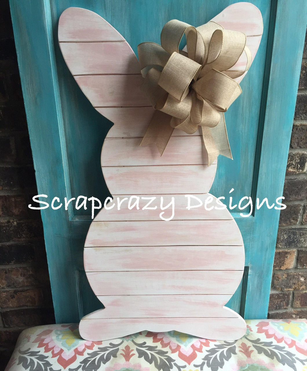 Outdoor Easter Bunny Easter Decoration Porch Decor Easter Wooden