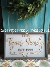 Family signs, family name sign, 3D wood signs, wood signs