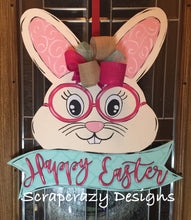 Bunny Door hanger, wood door hanger, easter door hanger, easter, easter decor, 3d lettering, spring decor