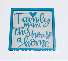 Family, home, collafe wall sign, wall sign, 3D wood signs, wood signs, 3D
