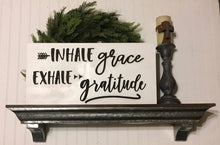 Grace, inhale grace wall sign, 3D wood signs, wood signs, 3D