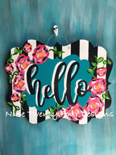 welcome door hanger, hello door decor, housewarming gift, gift, front door decor