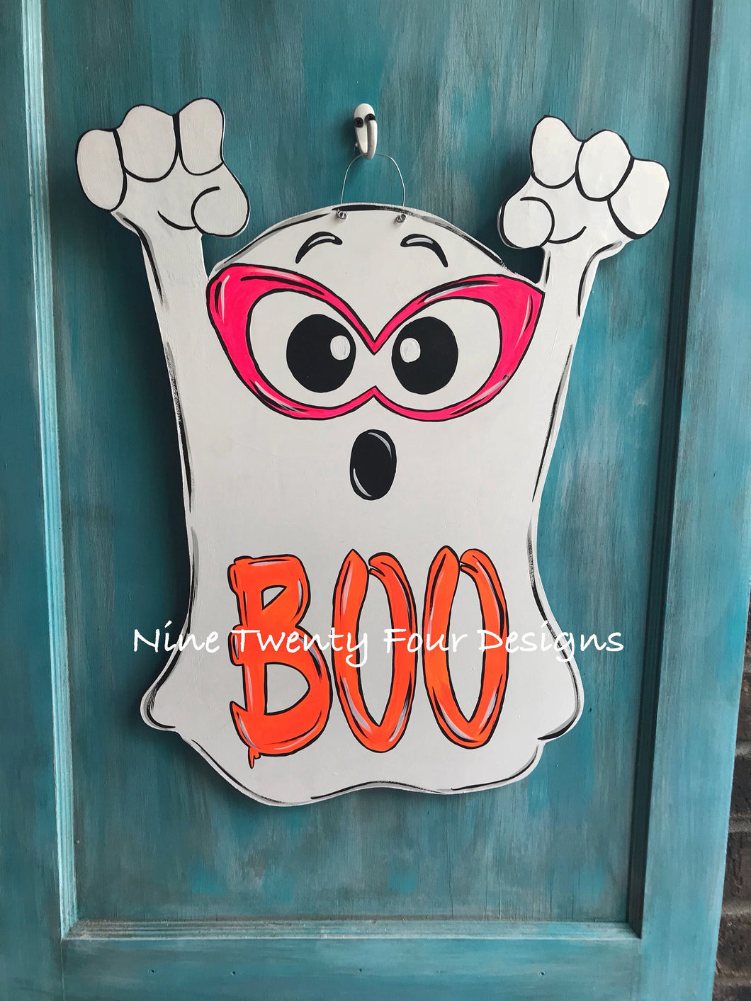Ghost door hanger, halloween door hanger, halloween
