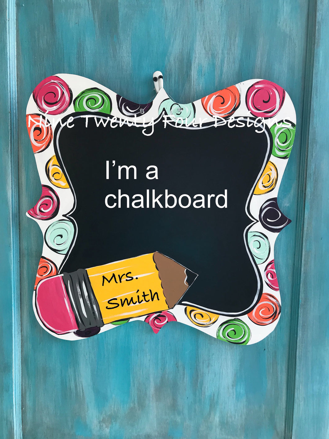 Teacher, teacher door hanger, classroom decor, chalkboard, teacher decor, teacher classroom, classroom, wood door hanger