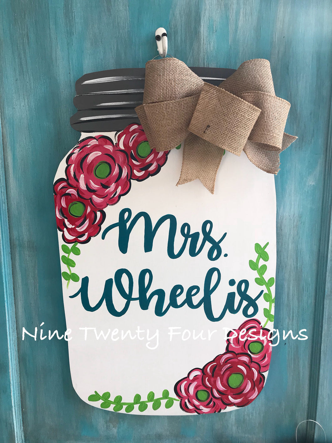Mason jar door hanger, classroom door hanger, teacher, teacher door hanger, door hanger, teacher decor, classroom decor
