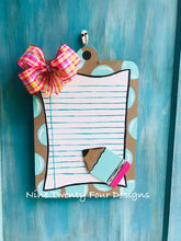 Clipboard Pencil door hanger, teacher door hanger, teacher, teacher decor, classroom, school