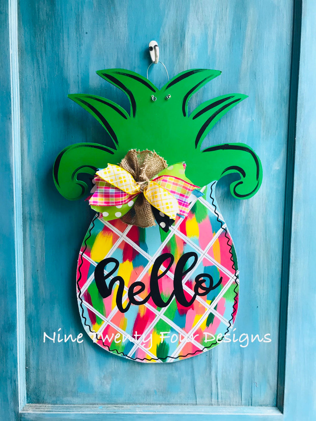 Multi color Pineapple Door hanger