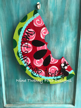 Watermelon sign, door hanger, summer decor, summer decoration, outdoor decor, watermelon