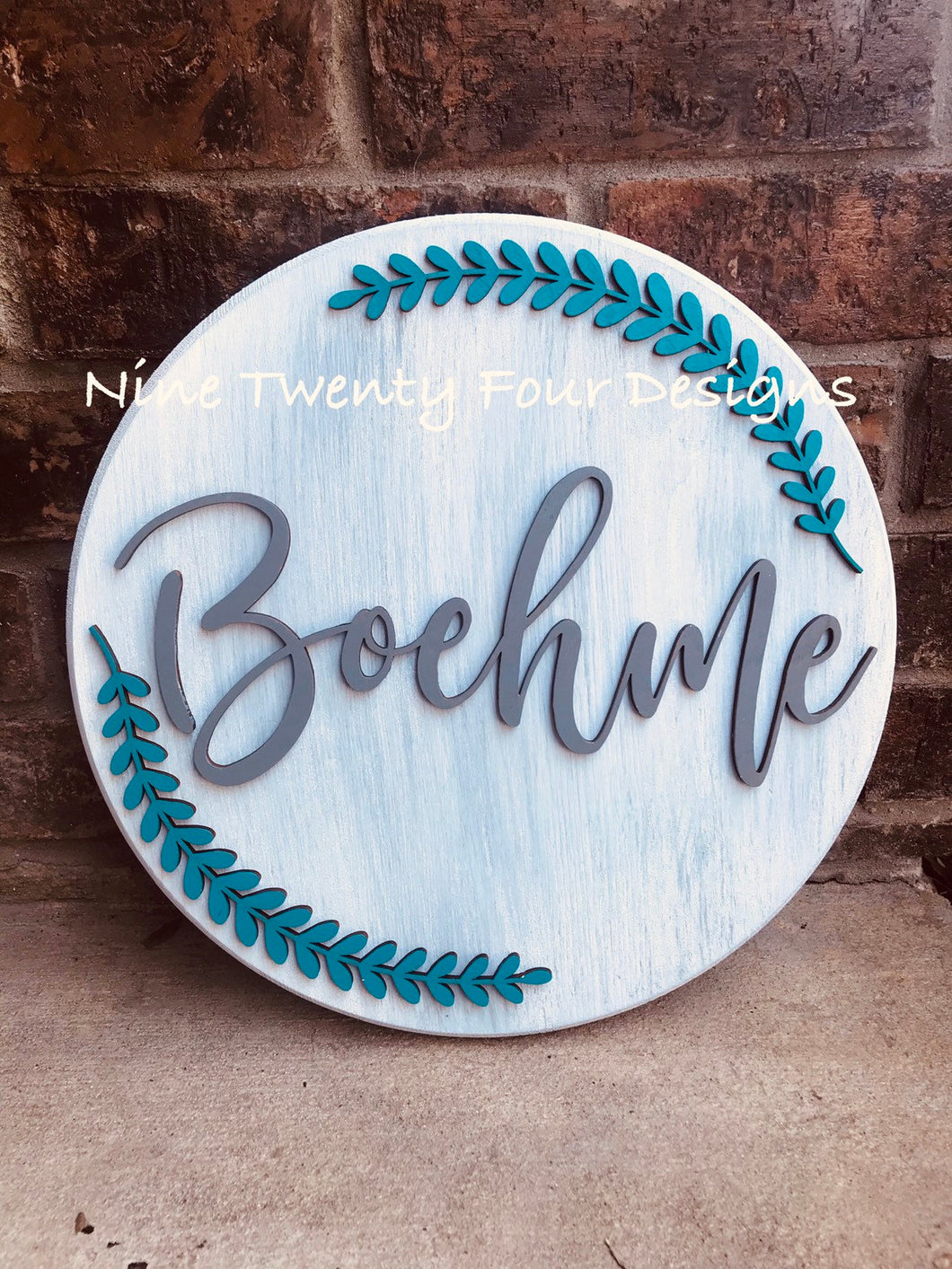 3D wood name sign, round wood name sign, wedding gift, personalized gift, home decor