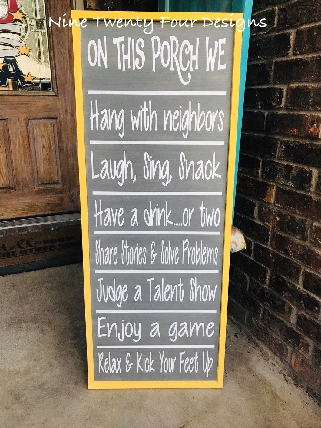Porch rules, porch sign, outdoor sign, patio sign