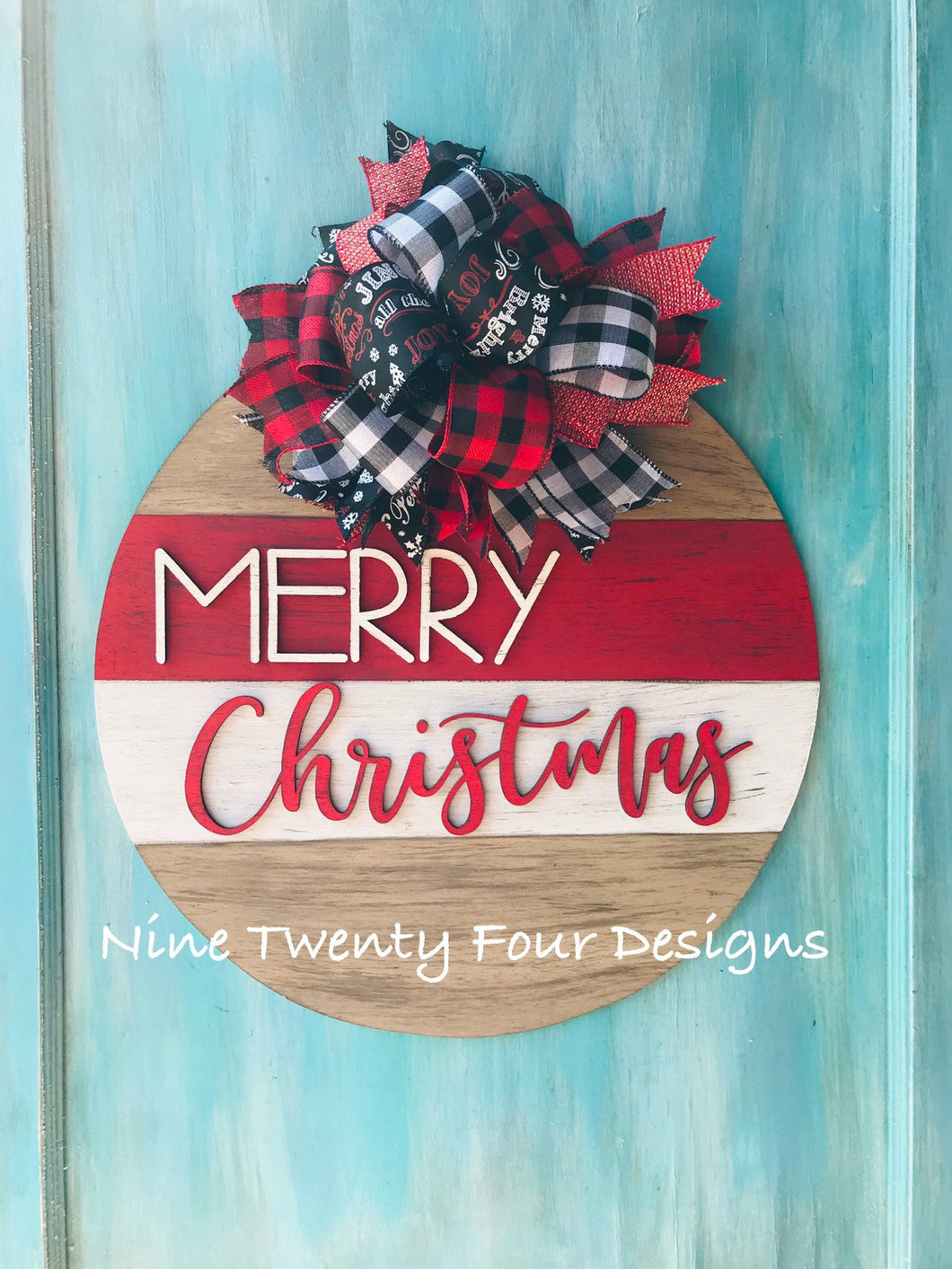 Merry Christmas 3D round sign, chistmas door hanger, christmas, holiday decor, christmas decor