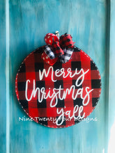 Merry Christmas Y'all, round sign, chistmas door hanger, christmas, holiday decor, christmas decor