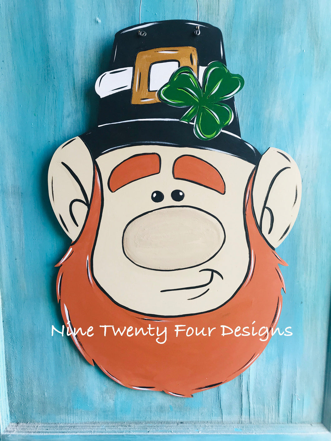Leprechaun, Leprechaun door hanger, st patty door hanger, st pattys day, st Patrick's day, holiday decor