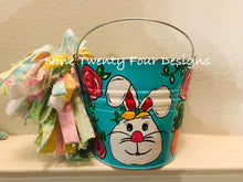 Painted Easter Bucket, Easter Bucket, Personalized Easter Bucket