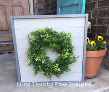 Wall decor, farmhouse style, farmhouse, wreath, wreath sign, shiplap, farmhouse sign, wall decoration, wood sign, framed sign