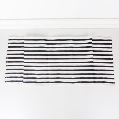 Black & white Table Runner, Table runner, Striped Table runner