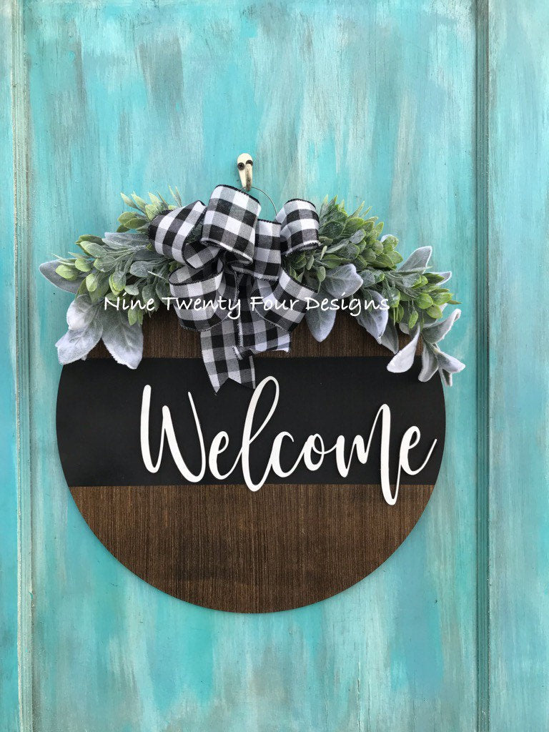 3d welcome sign, welcome  sign, door sign, sign, 3d wood sign, door decor, front door decor, everyday decor