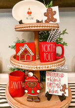 Gingerbread tiered tray set, tiered tray decor, Christmas signs, 3D signs, gingerbread man