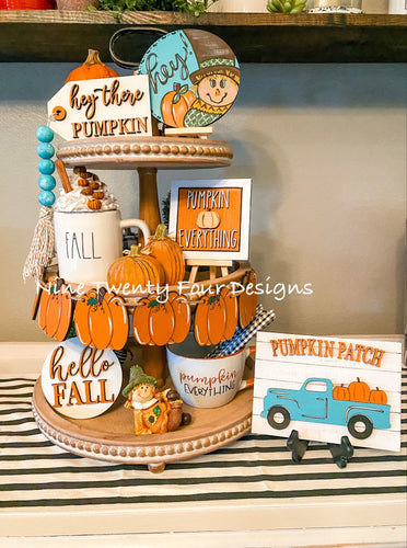 DIY Fall pumpkin tiered tray, Fall tiered tray set, fall tiered tray ,fall decor, Paint yourself kit