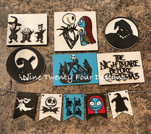 Nightmare before Christmas tiered tray set