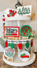 Christmas Loading tiered tray, Christmas tray signs, tiered tray decor