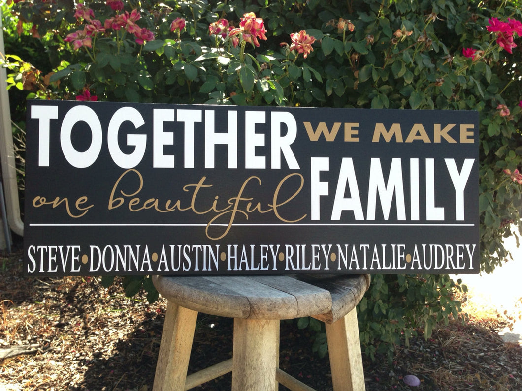 Blended Family Name Sign