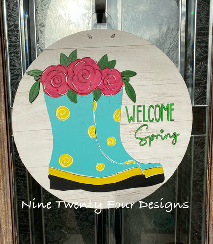 Welcome Spring Door Hanger